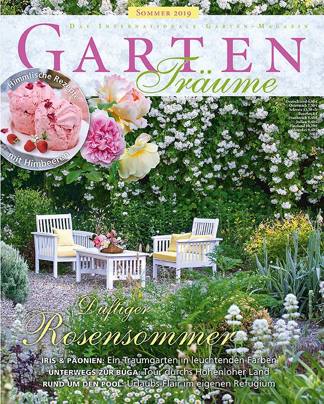 Titelbild der Zeitschrift Gartenträume Sommerausgabe-Nr2 - Link zur Reportage über den Garten von Petra Steiner, Feldkirchen-Westerham